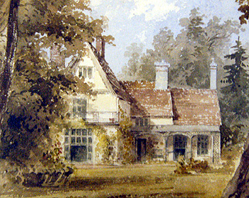 Flitton Vicarage in 1827, painted by Rev. Henry Wellesley [P12/28/9]